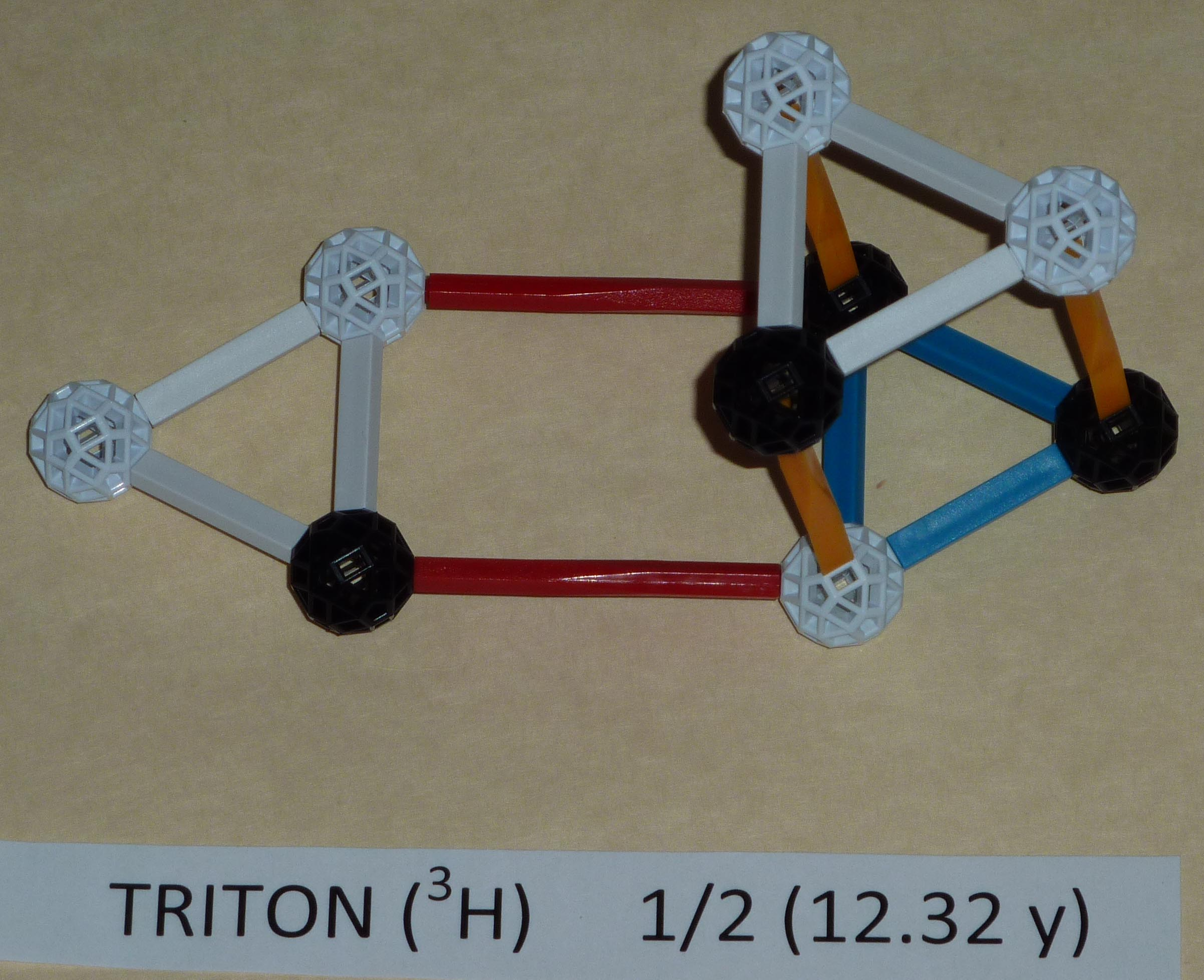 Tritium - neutrons top and side.